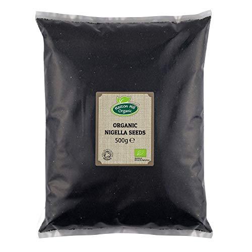 Organic Nigella Seeds 500g (Black Seeds, Black Onion Seed, Charnushka, Kalonji, Black Cumin) by Hatton Hill Organic - Certified Organic