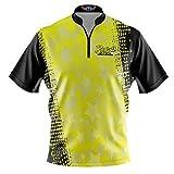 Logo Infusion Bowling Dye-Sublimated Jersey (Sash Collar) - Radical Style 0338RD (2XL) Yellow Black