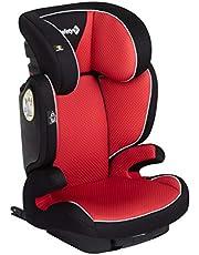 Safety 1st 8765841000 Safety 1st Road Fix-Kindersitz, Gruppe 2/3, praktischer Autositz mit ISOFIX-Installation, höhenverstellbar, nutzbar ab 3-12 Jahre, ca. 15-36 kg, Pixel Red, Pixel Red