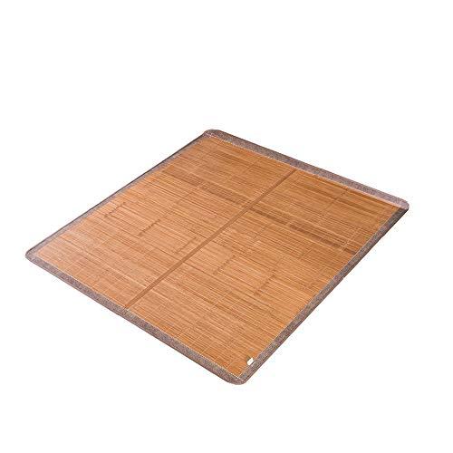 Teng Peng- Sommerschlafmatte, Eis-Rattan-Matte karbonisierte Bambusmatte im Sommer klimatisierte Zimmer-Schlafmatte faltbar, Schlafsaal für Studenten Schlafsofa mit rutschhemmender Doppelmatte Bambus-