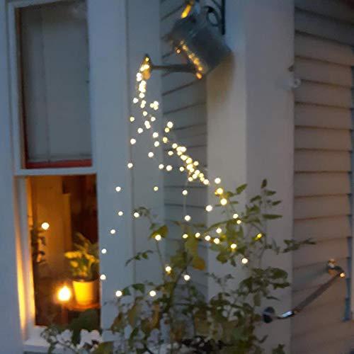 Star Shower Garden Art Light Decoration, Butterfly/Ladybug/Elephant Led String Lights Garden Solar Lights, Waterproof Watering Can Fairy Light Shape Light with Bracket (Only 1PC LED Light)