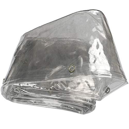 Im Freien transparent Plane Bodenabdeckung mit Metallösen Patio-Anlage im Freien PE-Kunststoffgewebe, 400 g/m², Dicke: 0,3 mm