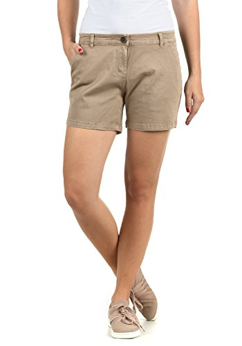 DESIRES DESIRES Kathy Damen Chino Shorts Bermuda Kurze Hose Stretch Regular Fit, Größe:34, Farbe:Simple Taupe (0162)