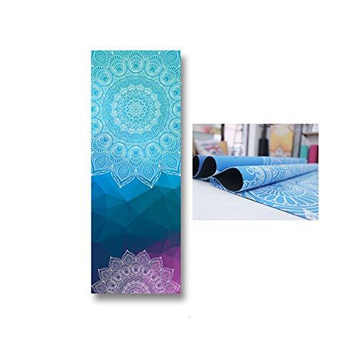 DSHHF Yogamatte Faltbare tragbare Yogamatte rutschfeste maschinenwaschbare Yogamattenabdeckung 1,2 mm ultradünne leichte Reise-Yogamatte