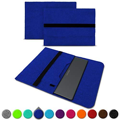UC-Express Sleeve Hülle für Medion Akoya S3409 E4254 S4219 E3216 E3215 E3223 E4253 13-14 Zoll Tasche Filz Notebook Cover Etui Case, Farbe:Blau
