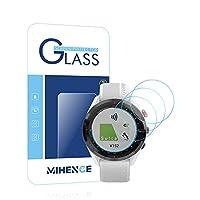 【3枚入り】 Mihence Compatible (ガーミン) Garmin Approach S62 保護フィルム, 9H ガラス保護フィルム 対応 GARMIN (ガーミン) Approach S62 Smartwatchスマート腕時計 2.5Dラウンドエッジ ウォッチ指紋防止保護膜