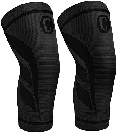 CAMBIVO 2 Pack Knee Compression Sleeve Knee Brace for Women and Men Knee Support for Running product image