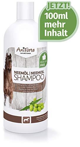 AniForte Neemöl Shampoo für Pferde 500ml - Pferdeshampoo pflanzlich für Fell, Mähne und Schweif, glänzend, hautfreundlich, leicht kämmbar, angenehmer Geruch, Naturprodukt aus Neemöl & Neemextrakt