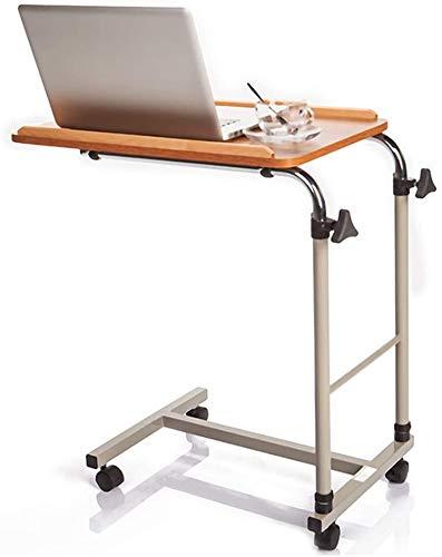 LY88 Verstelbare Overbed Tafel, Medisch nachtkastje Ziekenhuis Voedsellade Rolling Laptop Desk,voor Bed Sofa Ziekenhuis Lezen Eten Winkelwagen Lade Oranje