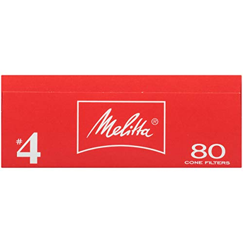 Melitta #4 Cone Coffee Filters, Bamboo, 80 Count (Pack of 6)