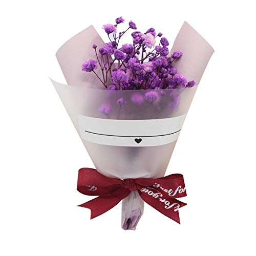 HETHYAN Dried flowers-Bouquet Dried Flowers Wedding Home Decoration Gift Packaging Artificial Dried Flower (Color : 03)