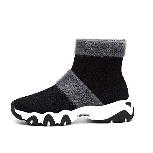 Lucdespo Ladies Casual Shoes Automne Hiver Bottes Courtes Chandail Tricoté Bas Chaussettes Confortable Confortable Chaussettes De Sport College Bottes Chaussettes De Sport Shoes.Gray, 39