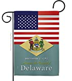 """Americana Home & Garden US Delaware Garden Flag Regional States American Territories Republic Country Particular Area House Decoration Banner Small Yard Gift Double-Sided, 13""""x 18.5"""", Made in USA"""