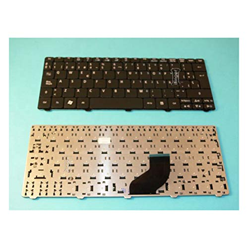 IFINGER Teclado Español Compatible para Portatil Acer Aspire One D270 Negro Black