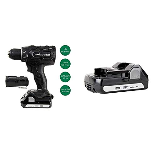 Metabo HPT 18V Cordless Driver Drill with Two Batteries