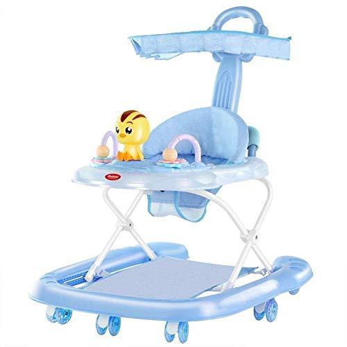 Btybess Trotteur bébé Anti-o jambe de roulement multi-fonction Push peut Sit Up To Learn garçons et les filles Jouer Walker Avec Toy Plateau apprentissage Walker for tout-petits et les nourrissons (Co