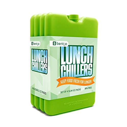 Bentgo Ice Lunch Chillers - Ultra-thin Ice Packs (- Green) by Bentgo