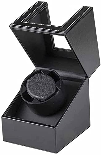 Caja de reloj – 6 ranuras para relojes, joyas, caja de almacenamiento, bandeja de pulsera de piel sintética, color negro
