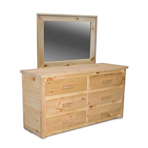 Unfinished Farmhouse 6 Drawer Dresser with Mirror/Wood Reclaimed Dresser/Modern/Urban/Cottage Dresser Mirror