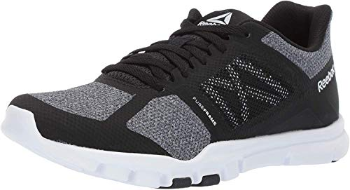 Reebok Women's Yourflex Trainette 11 MT, Black/White/Cool Shadow, 7.5 M US
