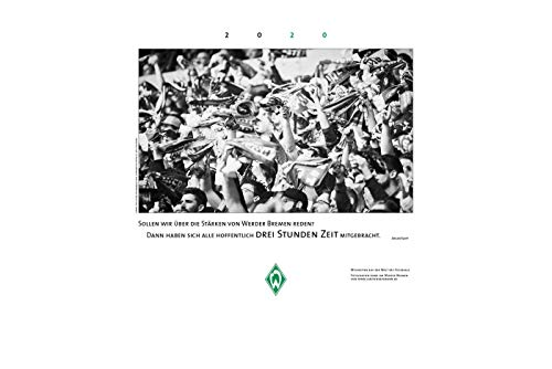 Unbekannt SV Werder Bremen Kalender/Wandkalender ** Fotokalender schwarz/weiß ** 2020
