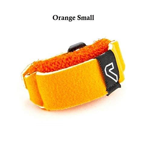 1 pz Gruv Gear FretWraps Smorzatori di corde Muter per corde per basso, chitarra acustica, ukulele, confezione singola con molti colori, arancione piccolo