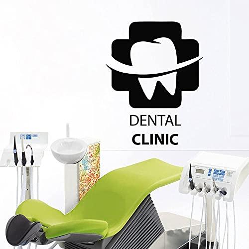 Signo de logotipo de clínica Dental dientes de sonrisa cuidado de la salud dentista oficina Hospital vinilo pegatina de pared calcomanía artística estudio Club decoración del hogar Mural