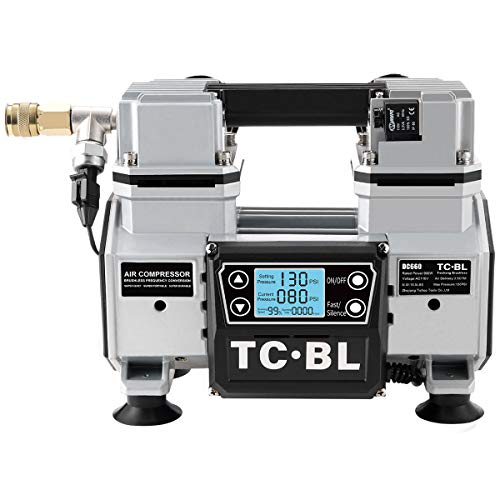 TC·BL Portable Air Compressor,Ultra Quiet Air Compressor Oil Free and Lightweight with AC Power