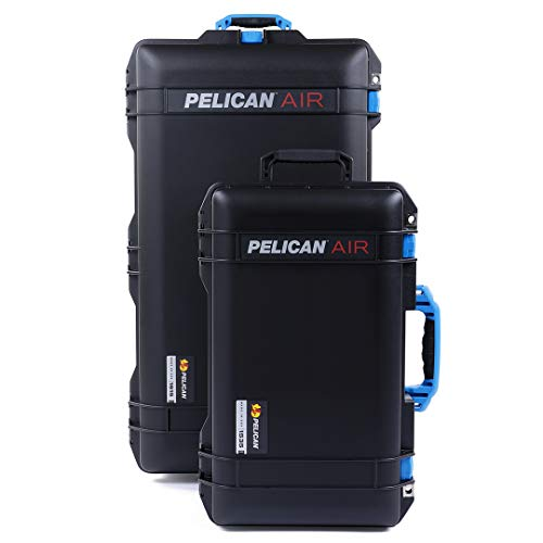 Black & Blue Combo Package of Pelican 1615 & 1535 Cases. Both are Empty, with Wheels.