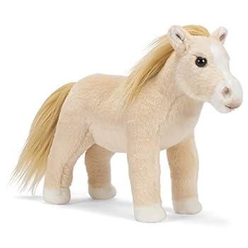 DEMDACO Quarter Horse Soft Blonde Palomino 10 inch Children s Soft Plush Stuffed Animal Toy
