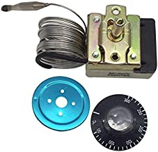 MENSI 50-300 Degree Deep Fryer Thermostat Control valve with Knob Whole Unit with 2m Sensor