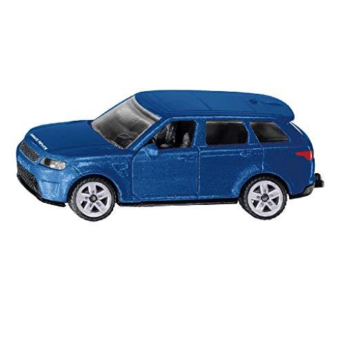 SIKU 1521, Range Rover, Metall/Kunststoff, Blau, Anhängerkupplung, Kombinierbar mit SIKU Modellen im gleichen Maßstab