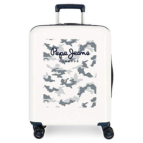 Pepe Jeans Joe Cabin Suitcase Beige 40 x 55 x 20 cm Rigid ABS Integrated TSA Lock 38.4L 2.5 kg 4 Wheels Double Hand Luggage