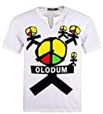 Personalize custom for Michael Jackson Olodum T-Shirt Mj Costume They Don't Care About Us (M, White)