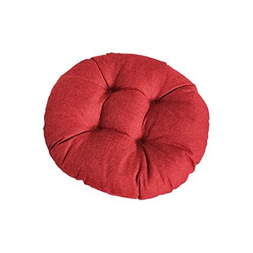 Cojín redondo de silla para casa, oficina, jardín, cojín decorativo para terraza, tatami, asiento interior y exterior, 40 x 40 cm