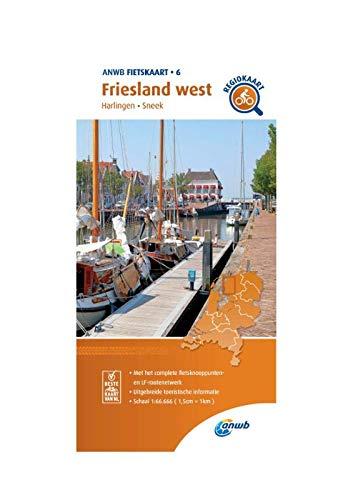 Fietskaart Friesland west 1:66.666: Harlingen, Sneek