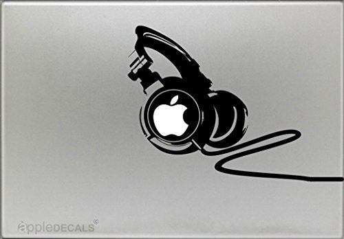 DJ Professional Headphones - Sticker Decal MacBook, Air, Pro All Models.