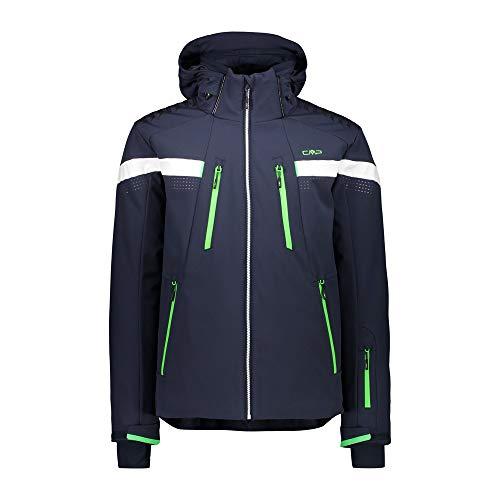 CMP Skijacke mit Taschen, Herren, 30W0327, Schwarz Blau, 56