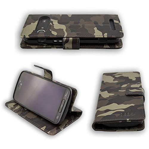 caseroxx Bookstyle-Hülle für Doro 8040/8042, mit & ohne Bildschirmschutz (Bookstyle-Tasche, Camouflage)