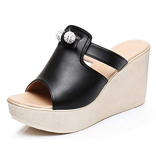 ZYMDD LYX® Sandalen, Slippers met hoge hakken Echt Pixia Helling Met Zware bodem Platform Schoenen Waterdichte Sandalen Word Drag