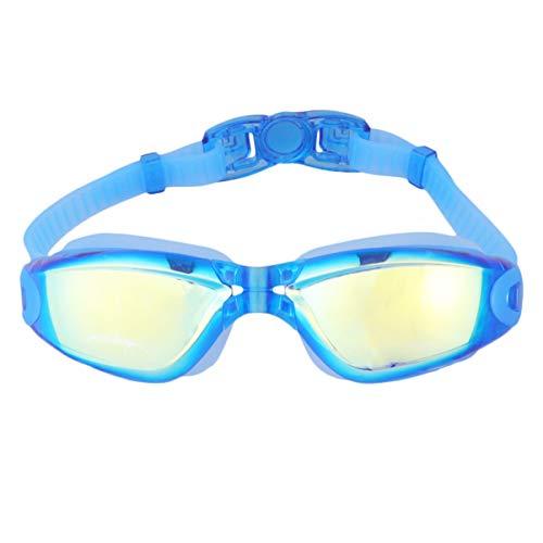 LIOOBO 1 Paar Schwimmbrillen plattiert keine undichten Anti-Fog-HD-UV-Schutz Schwimmbrillen Schwimmausrüstung
