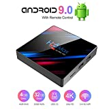 STRENTER TV Box Android 9.0 TV Box Smart Media Box 4GB RAM 32GB ROM RK3318 Quad Core Bluetooth 4.2 WiFi 2.4G & 5G Ethernet 1USB 3.0 & 1USB 2.0 Set Top Box Support 4K Ultra HD Internet Video Player