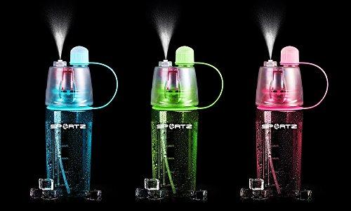 Zodiak SportZ Leakproof & BPA Free Sports Water Bottle 400 ml, With Spray Function (Pink)