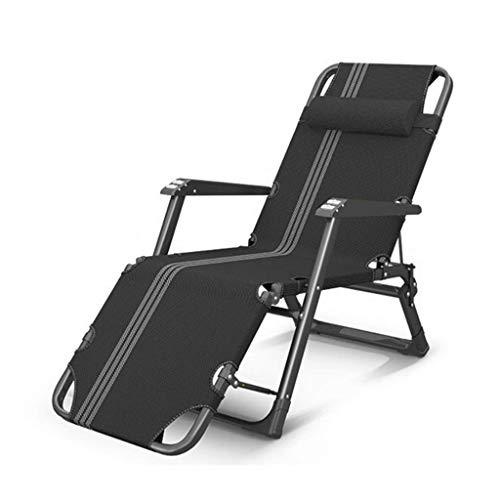 WSDSX Silla Plegable reclinable Tumbonas Plegables Zero Gravity Lounge, con cojín de algodón Tumbonas de jardín reclinables Ajustables para Exteriores, Patio, Playa Sun L