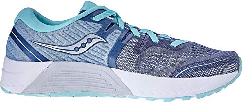 Saucony Women's Guide ISO 2 Running Shoe, Slate | Aqua - 7 M US