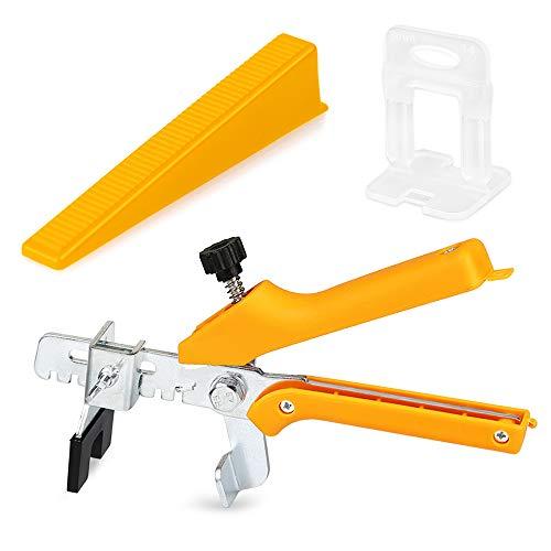 Fliesen BAU Tool Kit f/ür den BAU von W/änden B/öden 50PCS Wiederverwendbare Fliesen Leveler Spacer mit Spezialschl/üssel QUUY Fliesen Nivelliersystem