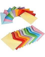 ewtshop Mini kolorowe koperty, 100 sztuk, 10 kolorów, 11,7 x 8,2 cm
