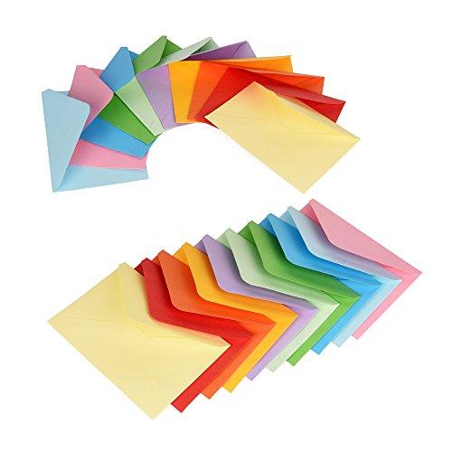 ewtshop Mini-Umschläge, farbig 100 Stück, 10 Farben, 11,7 x 8,2 cm