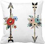 MODORSAN Throw Pillow Cover Green Spicy Red Chili Peppers Pattern Yellow Mexican Jalapeño Home Sofa Decorativo 18'x18' Funda de Almohada Funda-Funda de Almohada 17