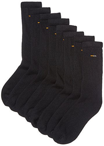Camano Herren 5941 Sport Socks 8 Paar Sportsocken, Schwarz (Black 05), (Herstellergröße: 43/46) (8er Pack)